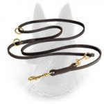 Extra Soft English Leather Belgian Malinois Lead - Easy and Quick Fixation