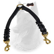 Leather Belgian Malinois Coupler with Braided Decoration