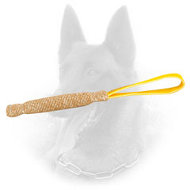Jute Belgian Malinois Bite Tag with Comfy Loop