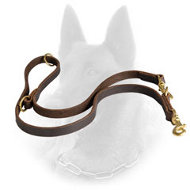Super Functional Belgian Malinois Leather Leash