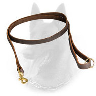 Gentle Belgian Malinois Leather Leash