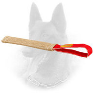 Jute Belgian Malinois Bite Toy with Loop