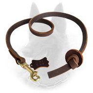 Pocket Belgian Malinois Leather Leash for Professional Training