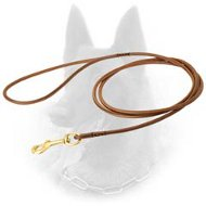 Exquisite Belgian Malinois Leather Leash for Dog Show