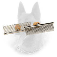 """Hair Designer"" Belgian Malinois Comb with Wooden Handle"