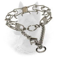 Chrome Plated Steel Belgian Malinois Pinch Collar with Swivel - 1/8 inch (3.25 mm)