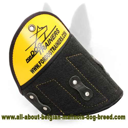Excellent Protection with Removable Belgian Malinois Shield