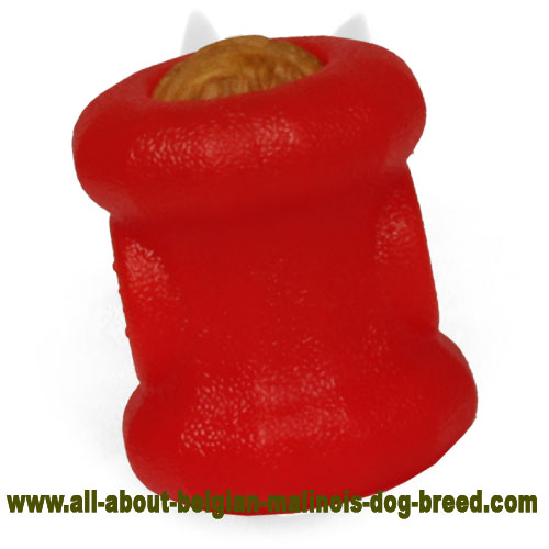 Interactive Belgian Malinois Rubber Toy for Treat Dispensing