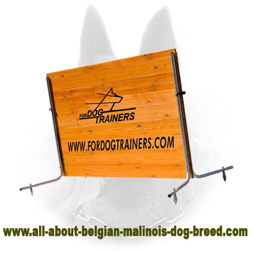 Wooden Barrier for Belgian Malinois Pro Training