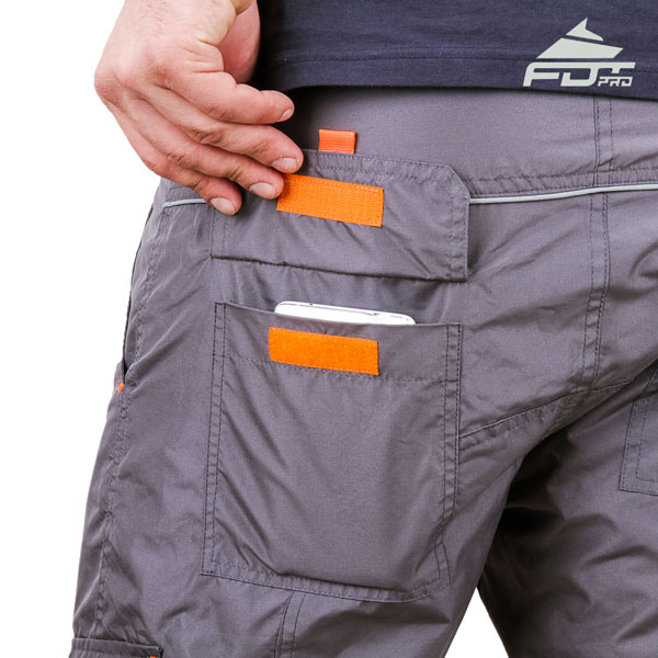 Comfortable Design Professional Pants with Reliable Side Pockets for Dog Training