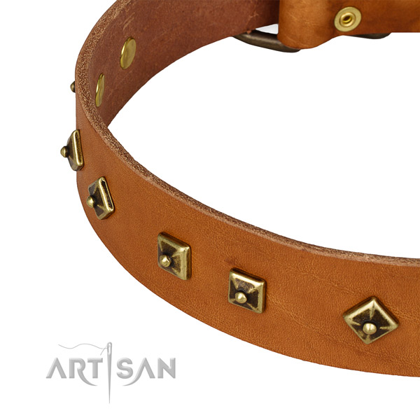 Handcrafted full grain leather collar for your beautiful doggie