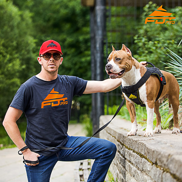 Men T-shirt of Quality Cotton with Professional Logo for Dog Trainers