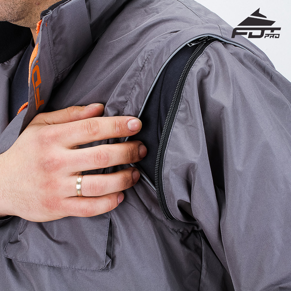 Durable Zipper on Sleeve for Professional Design Dog Tracking Jacket