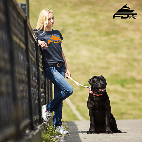 Dog Training Women T-shirt of Fine Quality Cotton