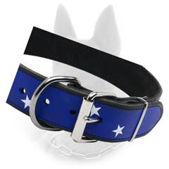 B.Malinois Fantastic Leather Painted Collar Made With  Soul