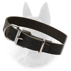 Belgian Malinois Fantastic Smooth Leather Dog Collar