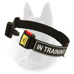 B.Malinois Nylon Collar With Quick Release Red Button  Buckle