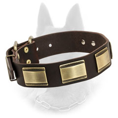 Superable Belgian Malinois Collar of Soft Leather