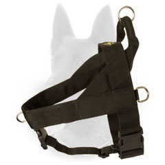 All Weather Nylon Belgian Malinois Harness for Professional Training