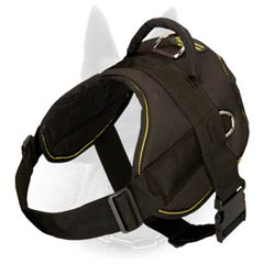 Easy Adjustable Nylon Dog Harness for Belgian Malinois Training