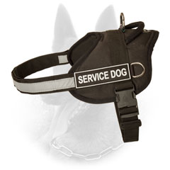 Training Nylon Dog Harness for Belgian Malinois with Easy-to-Attach ID Patches