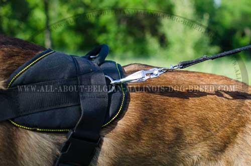 Side Nickel Plated D-Ring on Nylon Dog Harness for Pulling Cargo Attachment