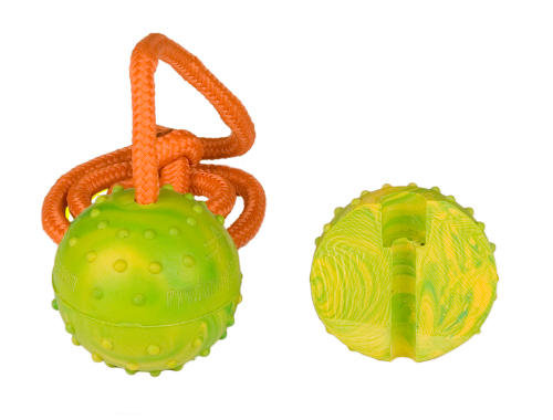 Rubber Belgian Malinois Bite Ball with Strong String for Small Dogs