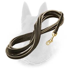Extra Long Professional Leather Belgian Malinois Leash for Tracking
