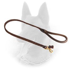 Fashionable Belgian Malinois Leash with Braided Decoration