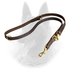 Strong Leather Belgian Malinois Leash for Safe Walking