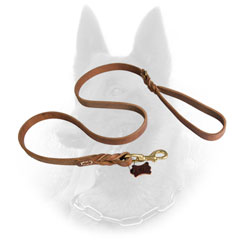 Longevous Belgian Malinois Leather Leash for Professional Training