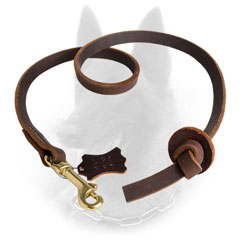Leather Belgian Malinois Leash for Better Handling