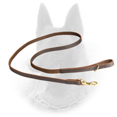Comfy Leather Belgian Malinois Leash for Walking