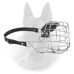 Belgian Malinois Wire Basket Dog Muzzle with One Adjustable Strap