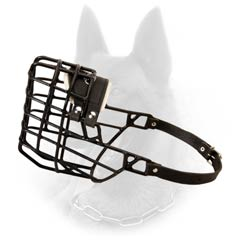 Plastic and Rubber Covered Wire Basket Winter Malinois Muzzle