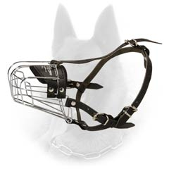 Popular Belgian Malinois Wire Cage Dog Muzzle For Safe  Walking