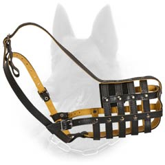 B. Malinois Hiqhly Qualitative Leather Multi-Purpose  Dog Muzzle
