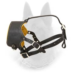 Cool Design Belgian Malinois Open Nose Leather Dog  Muzzle