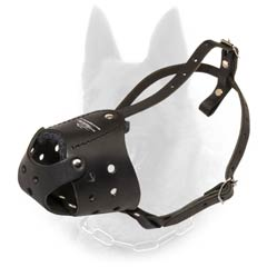 Low-Weight Well Ventilated Felt Padded Leather  B.Malinois Muzzle